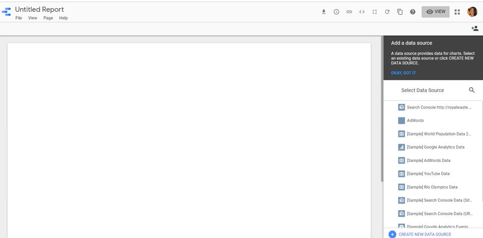 PPC reporting dashboard in Google Data Studio from Google BigQuery