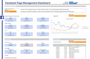 Facebook page Excel reporting template