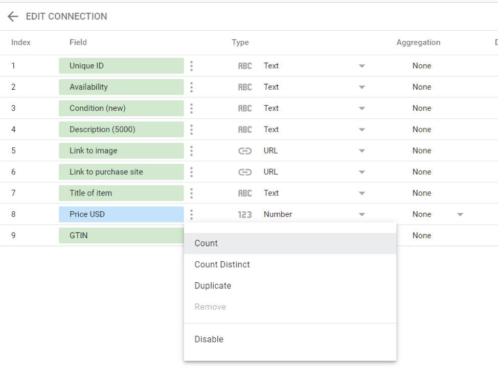 Google Analytics connector for Google Data Studio